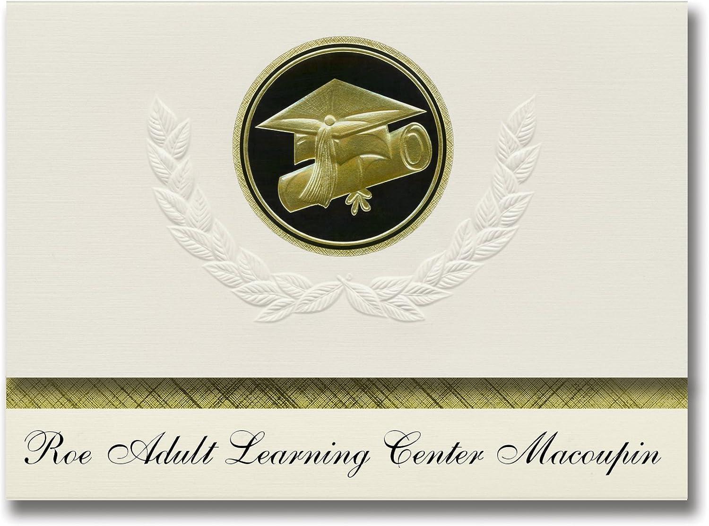 Signature Announcements Roe Adult Learning Learning Learning Center Macoupin (Carlinville, IL) Abschlussankündigungen, Presidential Elite Pack 25 Cap & Diplomversiegelung. Schwarz & Gold. B079PMTFDM    | Modernes Design  5449a6