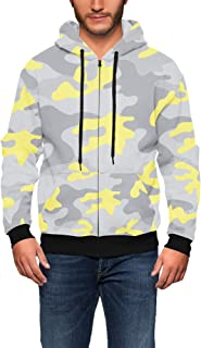 Rainbow Rules Colored Camouflage Men Zip Up Hoodie