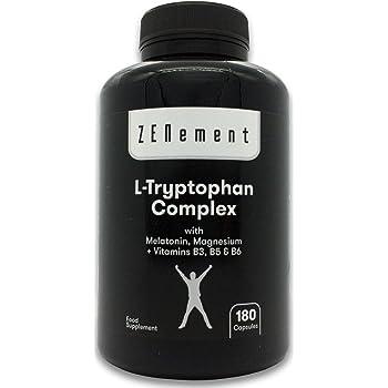 L-Triptófano - 500mg por Porción - 120 Cápsulas - Dosis alta ...
