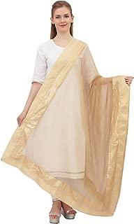 Phagun Indian Chunni Women Long Neck Wrap Long Stole Net Dupatta Scarves