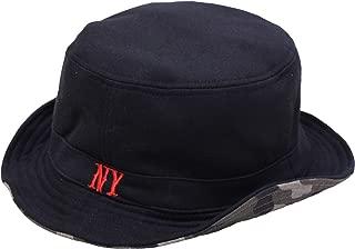 [エクサス]EXAS 大きいサイズ帽子 65cm ハット リバーシブル NYロゴ迷彩柄 スウェットコットン メンズ ブラック