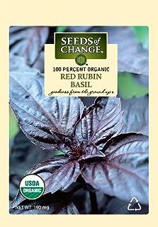 Seeds of Change S14523 Certified Organic Red Rubin Basil
