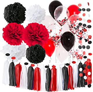 red and black decorations