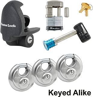 Master Trailer Locks-6 Master Lock - 6 Trailer Locks Keyed Alike #6KA-37940-37