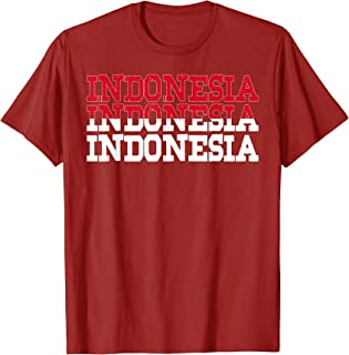 INDONESIA   Indonesian Flag Sports Lovers T-Shirt