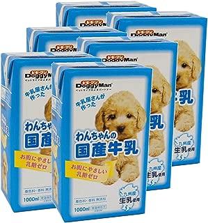 ドギーマン わんちゃんの国産牛乳 1000mL×6個 (ケース販売)