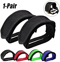 Fansport Foot Pedal Straps, Bike Pedal Straps BMX Strapping Clips Belt Set with Anti-Slip Double Adhesive Straps for Fixed Gear Bike Beginner (1 Pair)