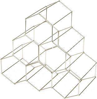 Compactor, Range-Bouteilles, Métal, Argent Satiné, Dimensions: 28 x 28 x H.14, 5 cm, RAN8662