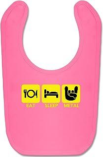 eat Sleep Metal lustige Fotomotive beVintage Damen Frauen locker langes Tank Top