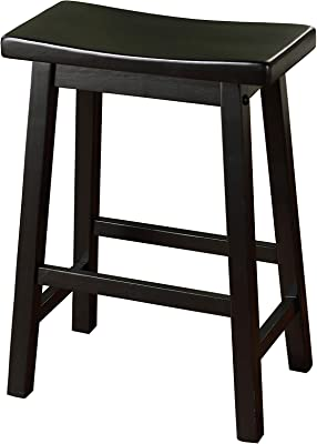 Amazoncom Winsome 20084 Satori Stool 24 Black Kitchen Dining