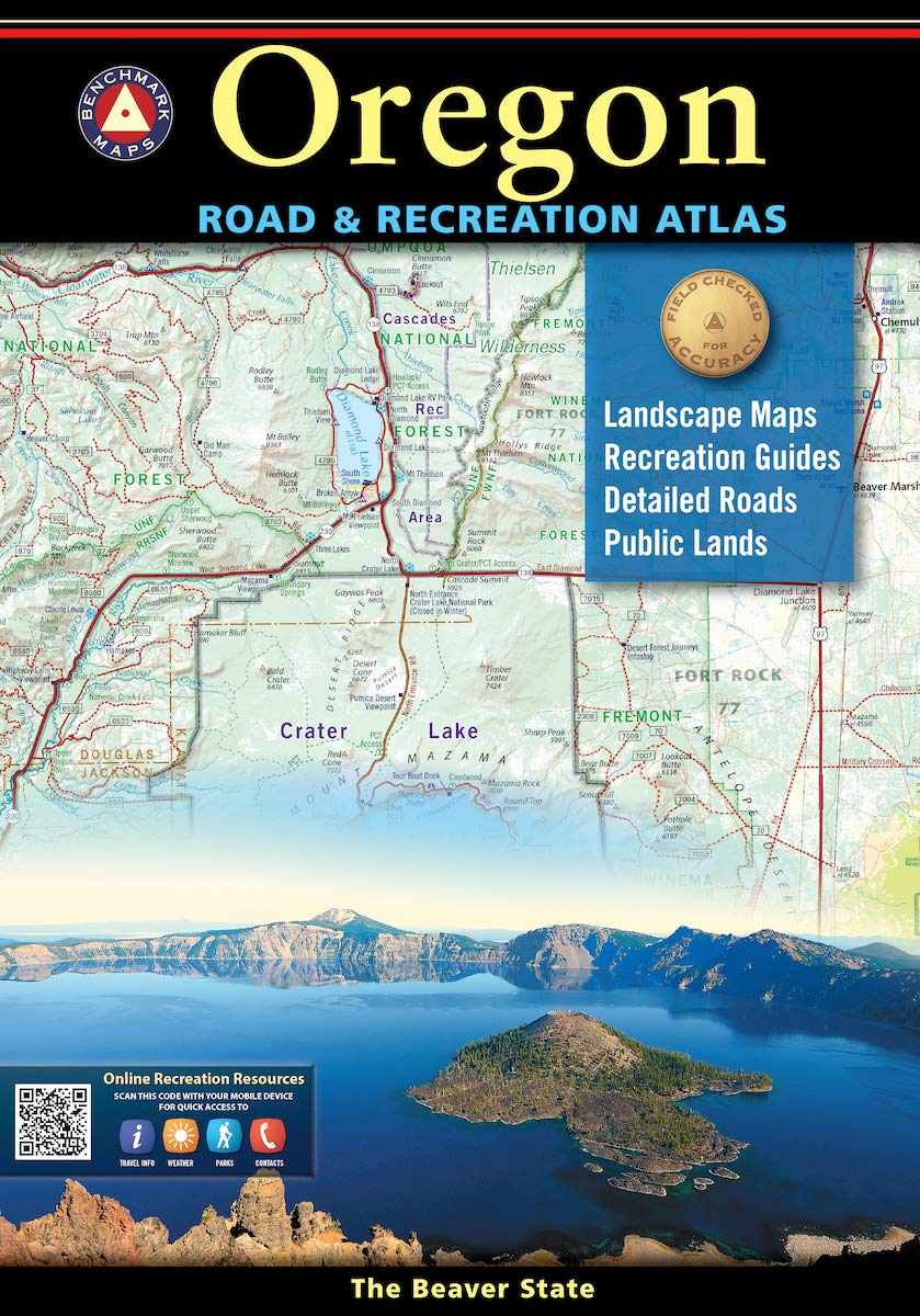 Oregon Road and Recreation Atlas: 2020 (Benchmark Atlas)