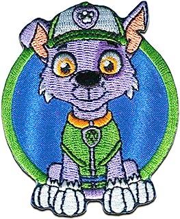 Patrulla Canina 'Rocky' - Parches termoadhesivos bordados aplique para ropa, tamaño: 7,3 x 6 cm