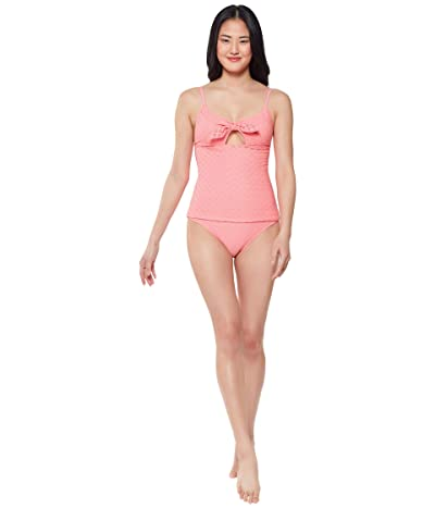 Jessica Simpson Sweet Tooth Solids Tie Front Tankini Top