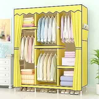 Wardrobe LI Jing Shop - Tissu Simple Tissu en Bois Massif Ensemble de Section Chambre à Coucher Maison Armoire Armoire Pol...