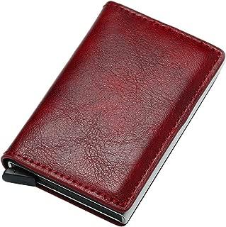 Sunbona (TM) Coin Purses Pouches Women's Men Vintage Aluminum Business Card Holder Automatic Pop-Up Case Wallet Bag