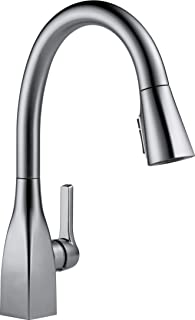 Delta Faucet Mateo Single-Handle Kitchen Sink Faucet with Pull Down Sprayer, Shield Spray Technology and Magnetic Docking Spray Head, Arctic Stainless 9183-AR-DST (Renewed)