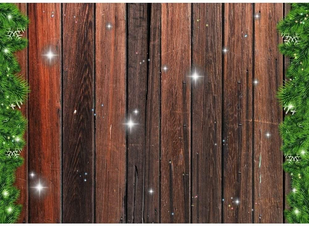 New Christmas Snow Windows Backgrounds for Photography 7x5 Fireplace Indoor Xmas Backdrops Rustic Wood Floor Snowy Mountain Winter Photo Backdrop for Holiday Seamless Vinyl Background