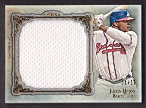 2013 Topps Five Star Baseball Jumbo Jersey Gold #JU Justin Upton 01/10 Atlanta Braves