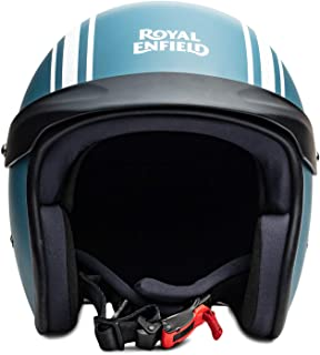 Royal Enfield Matt Blue Open Face with Peak Helmet Size (M)58 CM (RRGHEI000084)