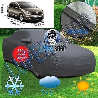 Genex Telo Copriauto Jeep Car Cover SUV Anti UV Sun Rain Copertura Resistente alla Neve per Dacia Dokker Duster Lodgy Logan Nova Sandero Solenza Argento per Dacia Lodgy