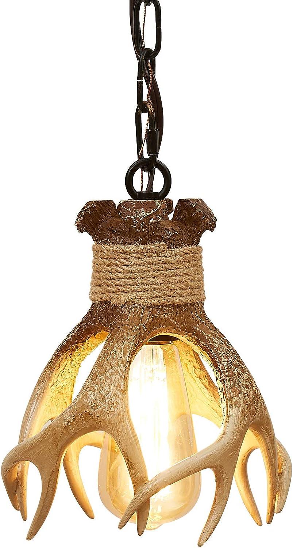 Mini Antler Pendant Light Farmhouse Pendant Hanging Light Fixture for Kitchen Island Dining Room Sink Bathroom Restaurant Light Small Antler Hanging Ceiling Light