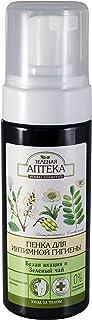 Green Pharmacy. Foam wash for intimate hygiene White acacia and green tea (Белая акация и зеленый чай)