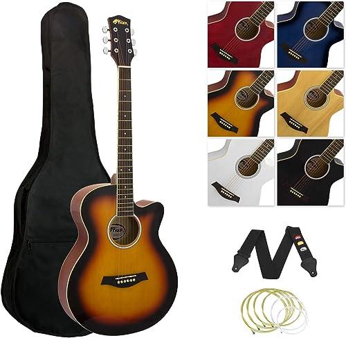 Tiger–Kit guitare acoustique, corps réduit, dégradé sunburst