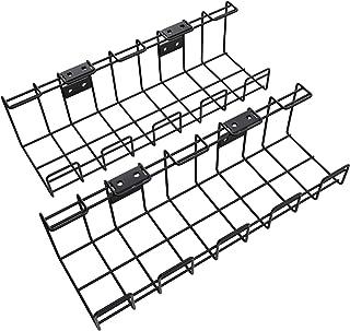 KD Essentials – Panier à câbles en métal, pack de 2 – Attache-câbles (montage sous la table ou mural, vissable, permet de ...
