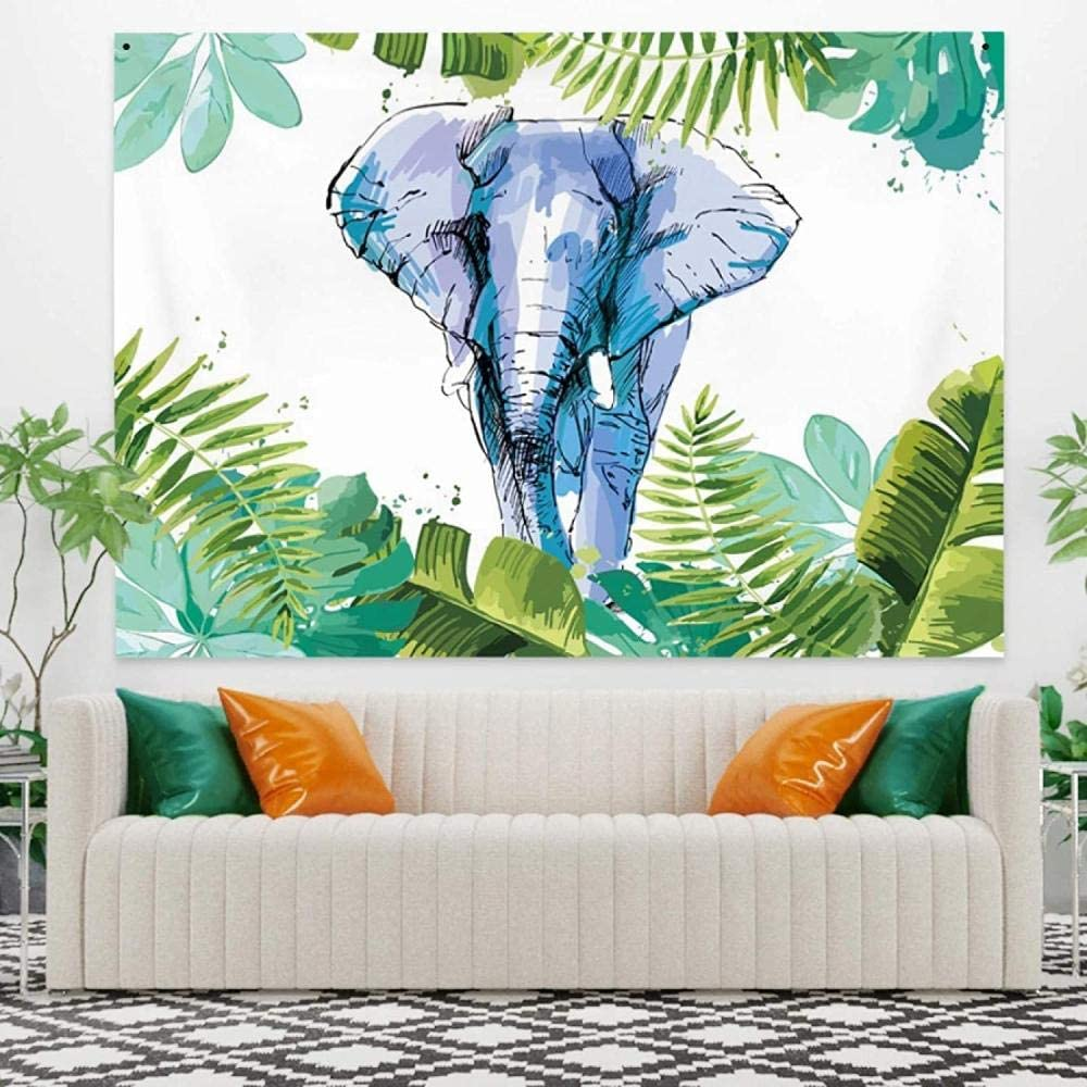 aksldf Tapestry Wall Hanging Cheap Tropical Ar Plant Max 42% OFF Elephant Abstract