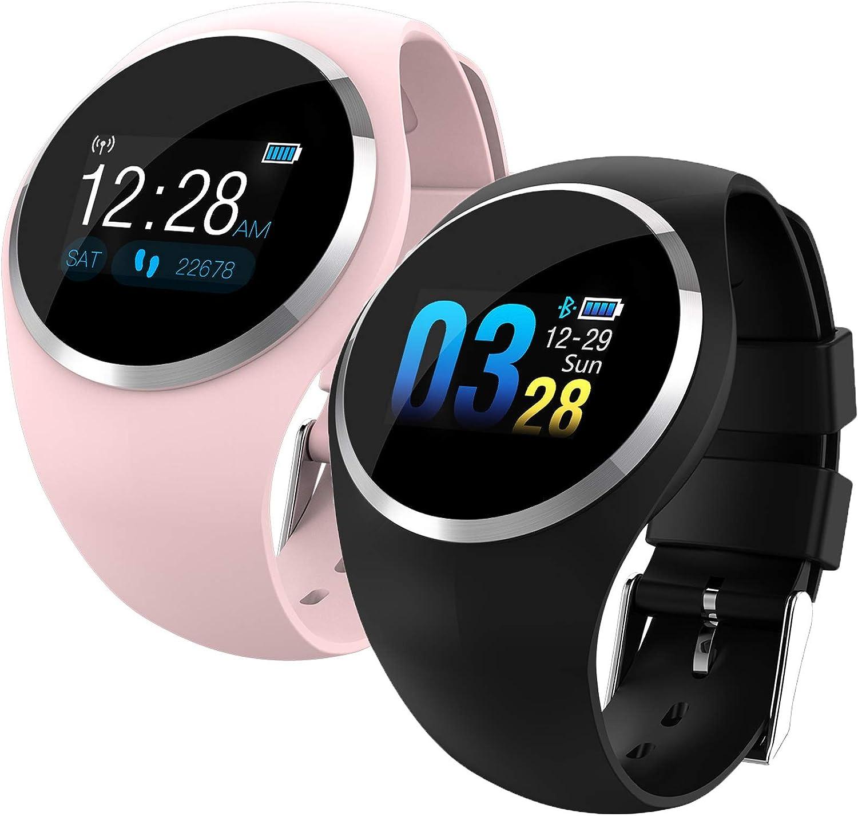 FXAOYWT Paar Modelle Smart Watch, Damen Schrittzhler Sportuhr Fitness Tracker IP68 wasserdicht Herzfrequenz Blautdruck Blautsauerstoff-überwachung