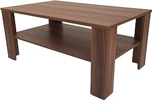Möbel SD Couchtisch(Bea) Nussbaum/Walnuss(Nachbildung) Dekor.