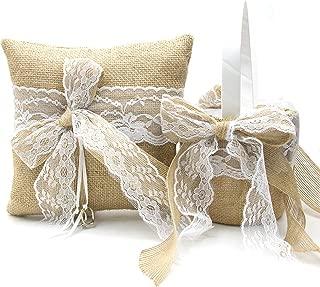 EDOBLUE Flower Girl Basket and Ring Bearer Pillow for Weddings