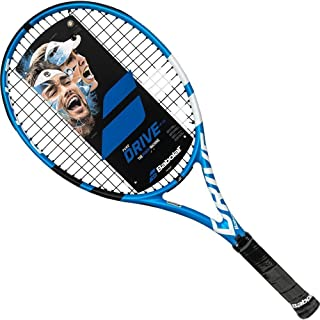 Babolat Pure Drive 26 Junior Blue/White Tennis Racquet Strung with Custom Racket String Colors