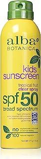 Alba Botanica Spf50 Sunscreen Kids 6 Ounce Clear Spray (177ml) (2 Pack)