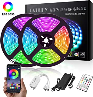 LED Strip Lights, TATUFY 32.8ft/10M Bluetooth LEDs Dream Color Changing Rope Lights 5050 RGB Rope Lights Kit with APP Waterproof Tape Lights Sync with Music Apply for Home Kitchen Decoration