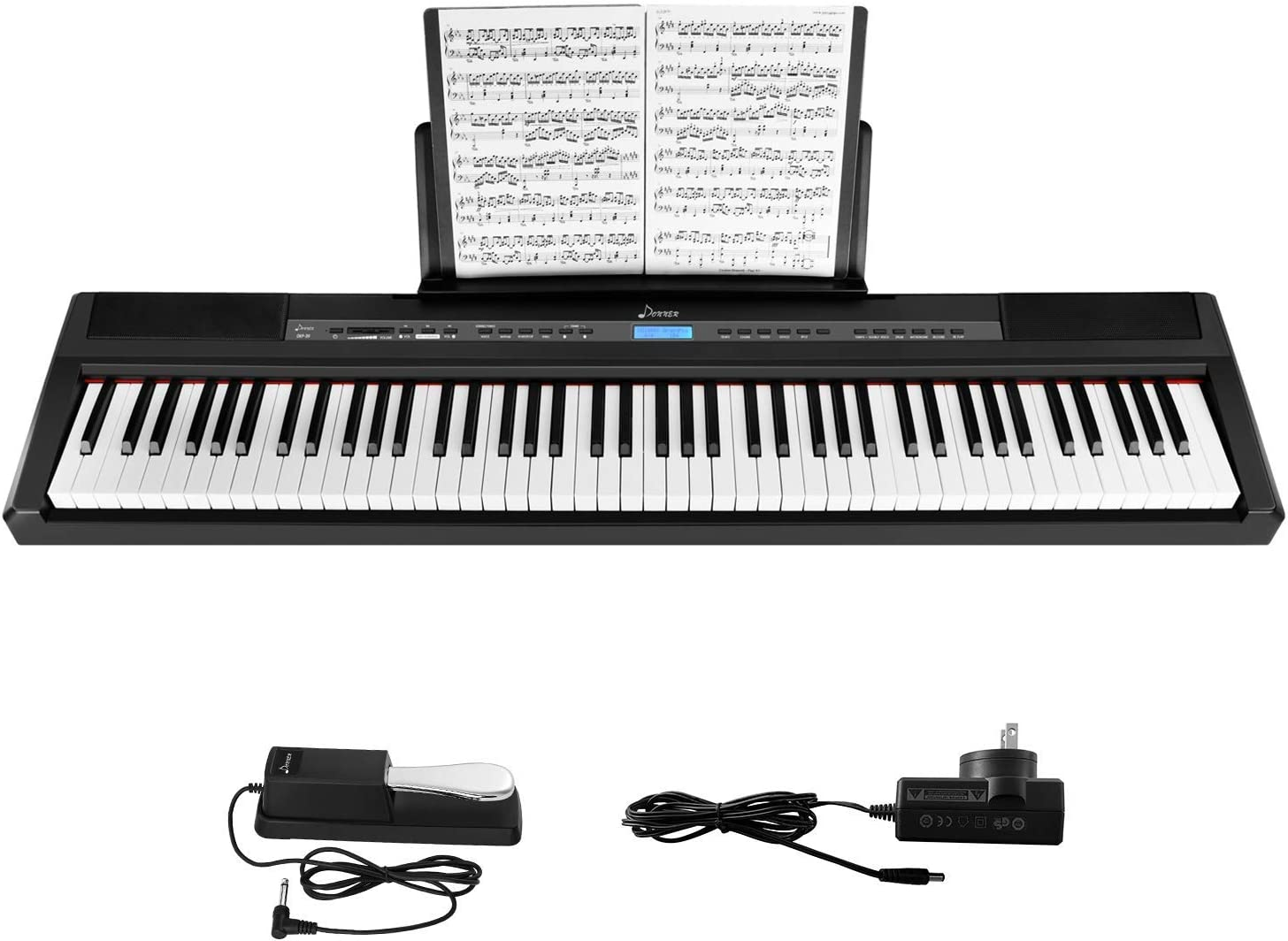 Donner SEAL limited product DEP-20 Beginner Digital Piano 88 Full Key Ranking TOP2 Size K Weighted