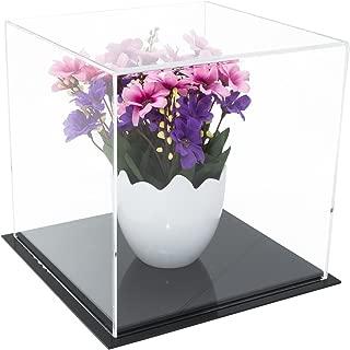 black acrylic display cubes