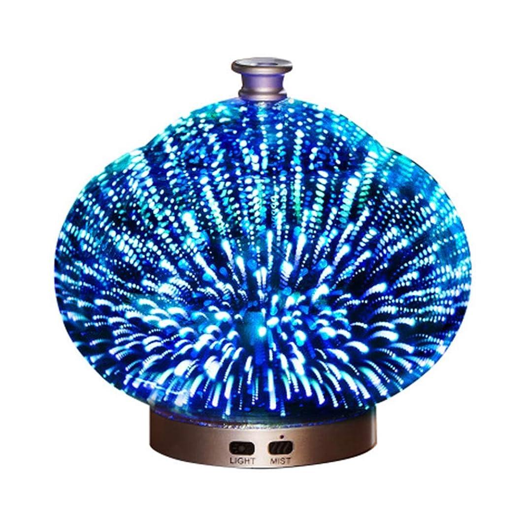 ルネッサンス掃く確かめる3Dガラス100ミリリットルギャラクシープレミアム超音波加湿器で素晴らしいledライト付き、自宅用ヨガオフィススパ寝室ベビールーム (Color : Brass)