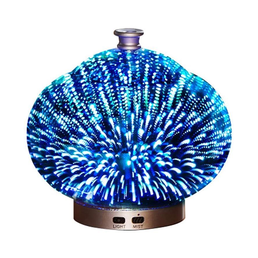 熱カナダ入る3Dガラス100ミリリットルギャラクシープレミアム超音波加湿器で素晴らしいledライト付き、自宅用ヨガオフィススパ寝室ベビールーム (Color : Brass)