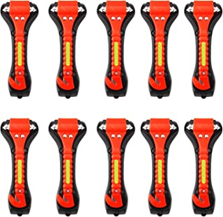 Iron Eagle Vehicle Safety Hammer 10Pcs, Car Escape Tool Seatbelt Cutter with Light Reflective Tape,Portable Emergency Life-Saving Hammer Tool Glass Window Punch Breaker