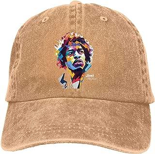 Dutchi Jimi-Hendrix Adjustable Running Cotton Washed Denim Cap Black