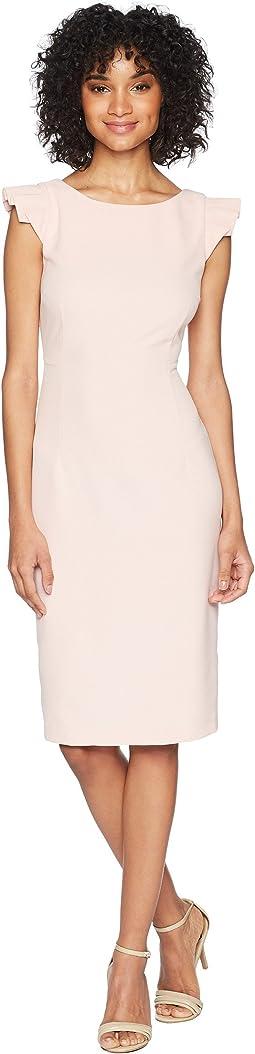 Cap Sleeve Solid Sheath Dress