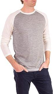 Woolly Clothing 男式美利奴羊毛长袖棒球衫 - 日常重量 - 透气防臭