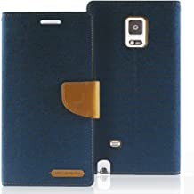 Goospery Canvas Wallet for Samsung Galaxy Note Edge Case (2014) Denim Stand Flip Cover (Navy) NT4E-CAN-NVY