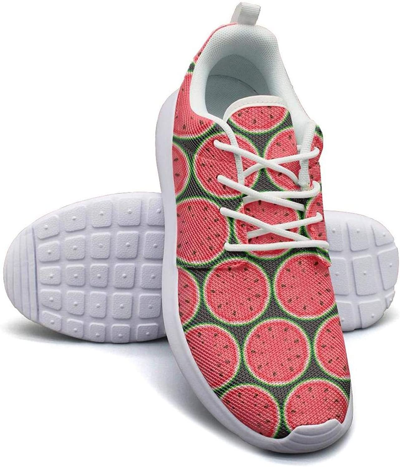 VXCVF Watermelon Seeds Womens Ladies White Gym shoes Breathable Cool