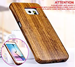 Galaxy S7 Edge case, S7 Edge wooden case CoCo@ 100% Unique Genuine Handmade Natural Wood Case Hard Bamboo Shockproof Case as Artwork for New Samsung Galaxy S7 Edge G9350 (2016)(Zebra Wood)
