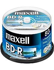 マクセル(maxell) 録画用 (1回録画用) BD-R 地上デジタル180分 BSデジタル130分 4倍速対応 インクジェットプリンタ対応ホワイト(ワイド印刷) 50枚 スピンドルケース入 BRV25WPE.50SPZ