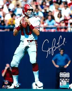 Steve Bartkowski Autographed/Signed Atlanta Falcons Throwback 8x10 NFL Photo - White Jersey