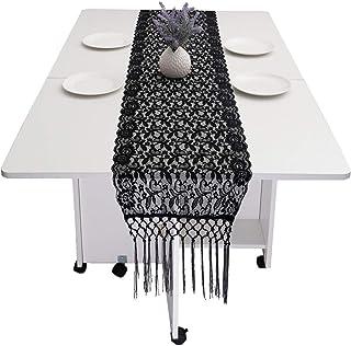 Mookaitedecor Camino de mesa vintage de encaje para bodas fiestas salones comedores cafeterías decoración de mesa na...