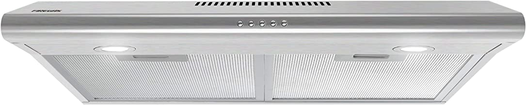 Aluminum Mesh Filters Stainless Steel Stove Vent Hood with 3 Speed Kitchen Exhaust Fan Push Button Ducted//Ductless Convertible Duct Firegas 30 inch Wall Mount Range Hood